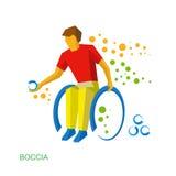 Физически неработающий игрок boccia Стоковые Фото