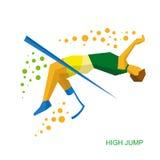 Физически неработающий скача спортсмен Стоковые Изображения RF