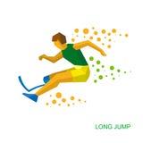 Физически неработающий скача спортсмен Стоковое Фото