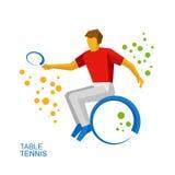 Физически неработающий теннисист, теннис кресло-коляскы Стоковая Фотография