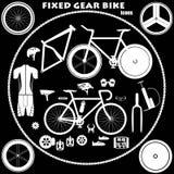 Фиксированный велосипед шестерни Иллюстрация вектора