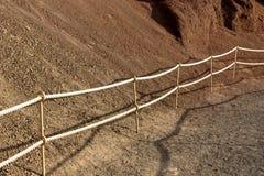 Фиксированный маршрут веревочки на горе стоковое изображение rf