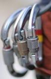 фиксировать carabiners Стоковые Изображения RF