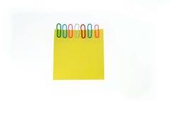 фикчированный желтый цвет бумаги примечаний Стоковое Изображение RF
