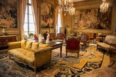 ФИЛАДЕЛЬФИЯ - СЕНТЯБРЬ 2015: Роскошная внутренняя комната в музее изобразительных искусств в Филадельфии Стоковое Изображение