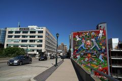 ФИЛАДЕЛЬФИЯ, США - 23-ье мая 2018 - наследие настенных росписей города Стоковые Фото