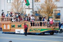 Филадельфия, PA - 23-ье ноября 2017: Ежегодный парад официальный праздник в США в память первых колонистов Массачусетса в разбиво стоковые изображения rf