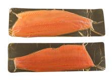 Филе семг или форели изолированное на белой предпосылке стоковое изображение