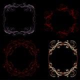 филигранные рамки готские иллюстрация вектора