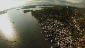 Филиппинская природа Холмы и острова Остров Busuanga Coron PALAWAN сток-видео