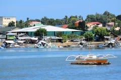 Филиппинские традиционные шлюпки рыболова стоковое фото rf
