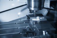 Филировальная машина CNC режа часть прессформы впрыски стоковое фото