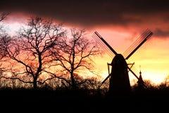 филируйте ветер силуэта Стоковая Фотография
