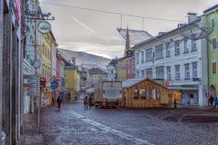 ФИЛЛАХ, АВСТРИЯ, улицы центральной части города на Стоковое фото RF