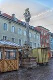 ФИЛЛАХ, АВСТРИЯ, улицы центральной части города на Стоковые Фото