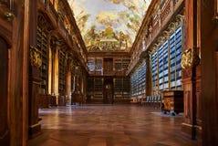 Философски Hall, монастырь Strahov, Прага Стоковое Фото