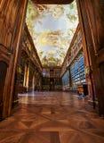 Философски Hall, монастырь Strahov, Прага Стоковые Фото