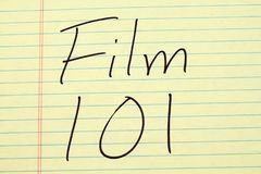 Фильм 101 на желтой законной пусковой площадке Стоковые Фото