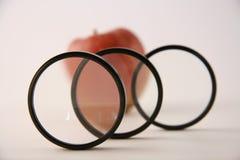 фильтрованное яблоко Стоковое Изображение