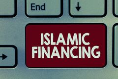 Финансирование текста почерка исламское Деятельность при и вклад банка смысла концепции который исполняет с sharia стоковые изображения