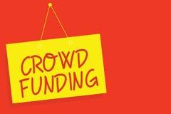 Финансирование толпы сочинительства текста почерка Пожертвования платформы обещания Kickstarter смысла концепции Fundraising Star бесплатная иллюстрация