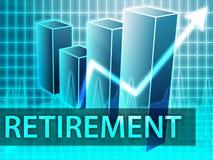 финансирует выход на пенсию иллюстрация вектора