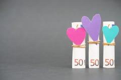 Финансовая влюбленность Стоковое фото RF