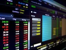 Финансовая деятельность на компьютере Стоковые Изображения RF