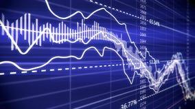 Финансовая диаграмма на экране монитора компьютера Стоковое Фото