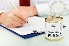Финансовая концепция плана стоковое фото