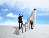 Финансовая концепция роста и успеха Стоковые Изображения RF