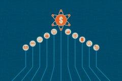 Финансовая концепция технологии и капиталовложений предприятий Стоковое Изображение RF