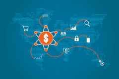 Финансовая концепция технологии и капиталовложений предприятий Стоковое фото RF