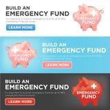 Финансовая копилка фонда на случай чрезвычайных обстоятельств иллюстрация штока