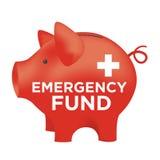 Финансовая копилка фонда на случай чрезвычайных обстоятельств бесплатная иллюстрация