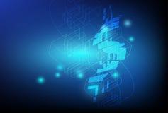 Финансовая предпосылка иллюстрации Стоковые Изображения