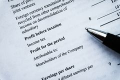 Финансовое планированиe бизнеса, балансирует портфель ценных бумаг стоковые изображения