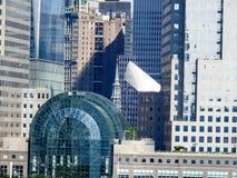 Финансовое предсердие Нью-Йорк района Стоковое Изображение