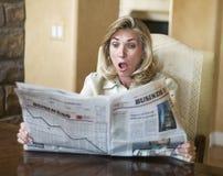 финансовохозяйственная газета встряски Стоковые Изображения RF