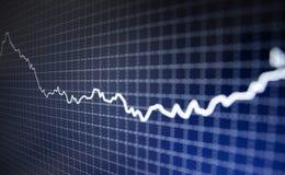 финансовохозяйственная диаграмма Стоковое Фото