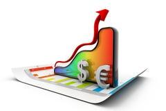 Финансовохозяйственная диаграмма Стоковые Фотографии RF