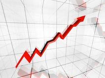 Финансовохозяйственная диаграмма Стоковое Изображение