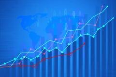 Финансовохозяйственная диаграмма Стоковые Фото