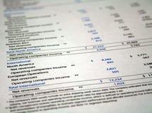 финансовохозяйственная обработка документов Стоковая Фотография RF
