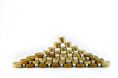 финансовохозяйственная пирамидка Стоковые Изображения