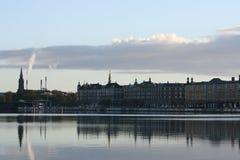 Финансовохозяйственное заречье, Копенгаген Стоковое фото RF