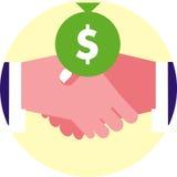 Финансовохозяйственное рукопожатие иллюстрация штока