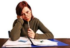 финансовохозяйственно имеющ женщину проблем стоковые изображения rf