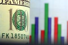 финансовохозяйственные деньги роста стоковое изображение