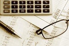финансовохозяйственные рапорты Стоковые Фотографии RF